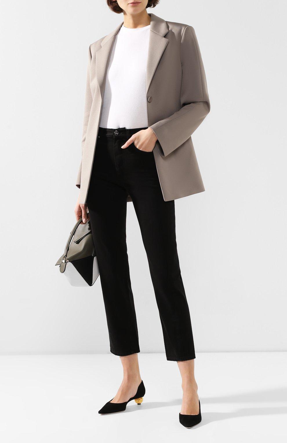 Женские джинсы TOTÊME черного цвета, арт. 0RIGINAL DENIM 32 193-232-744   Фото 2
