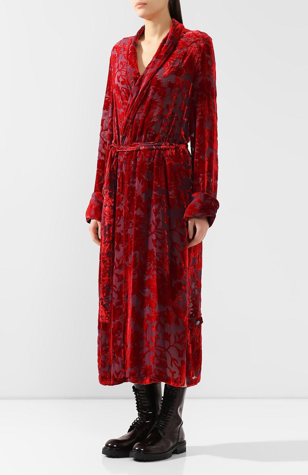 Платье из смеси вискозы и шелка | Фото №3