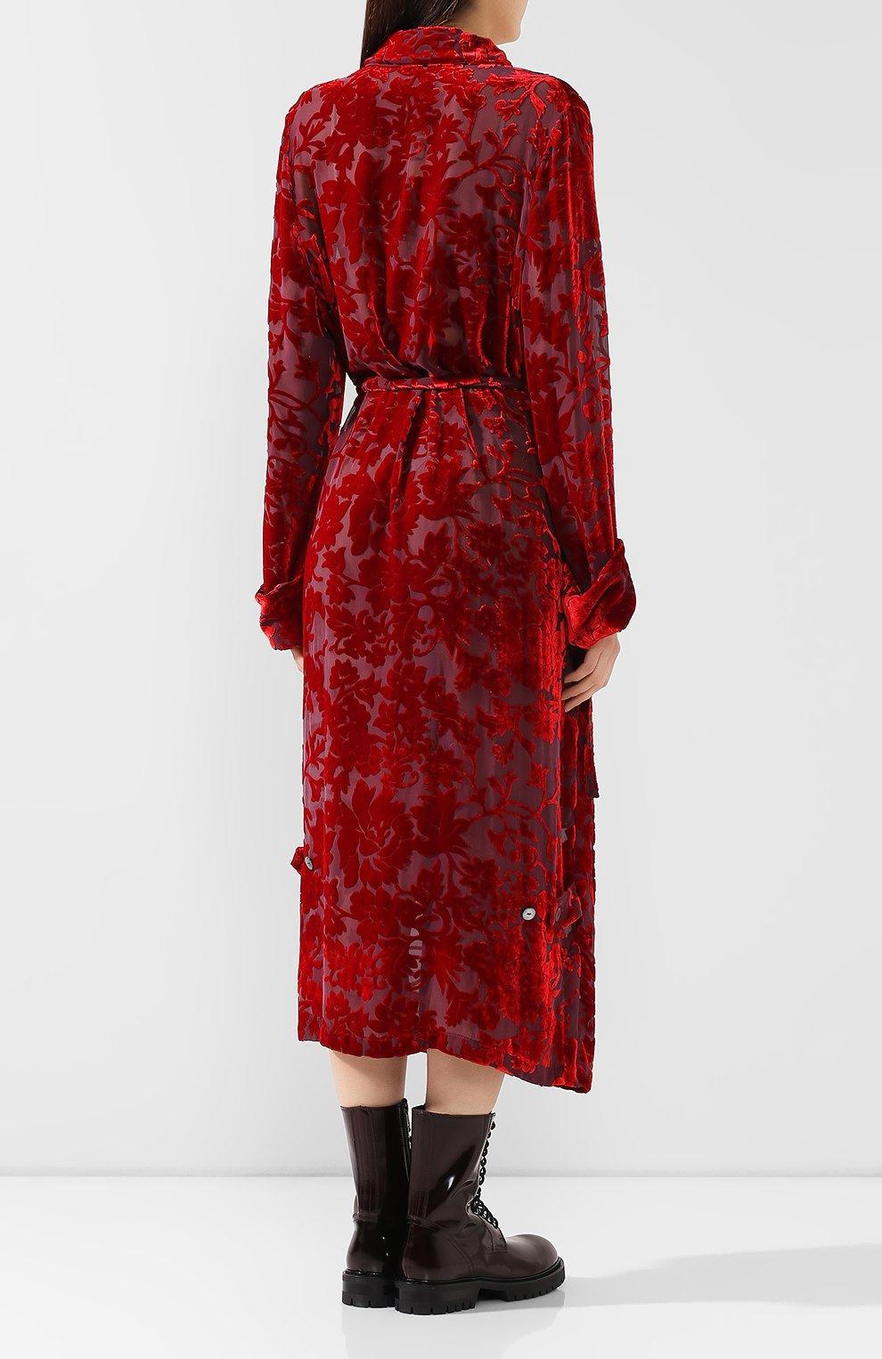 Платье из смеси вискозы и шелка | Фото №4
