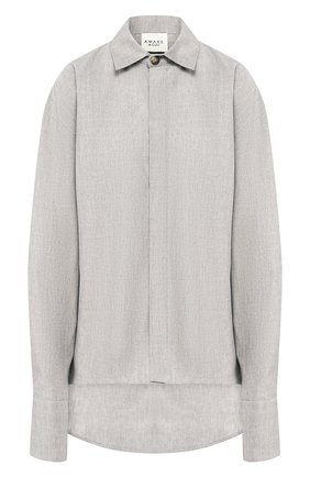 Женская хлопковая рубашка A.W.A.K.E. MODE серого цвета, арт. AW19.T14 | Фото 1