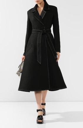 Женское пальто с поясом A.W.A.K.E. MODE черного цвета, арт. PF19.C01 | Фото 2
