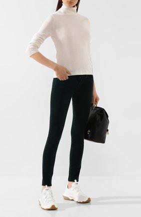 Женские брюки 7 FOR ALL MANKIND зеленого цвета, арт. JSL4V640GR | Фото 2