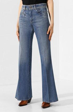 Женские расклешенные джинсы GIVENCHY синего цвета, арт. BW50EK50CB | Фото 3
