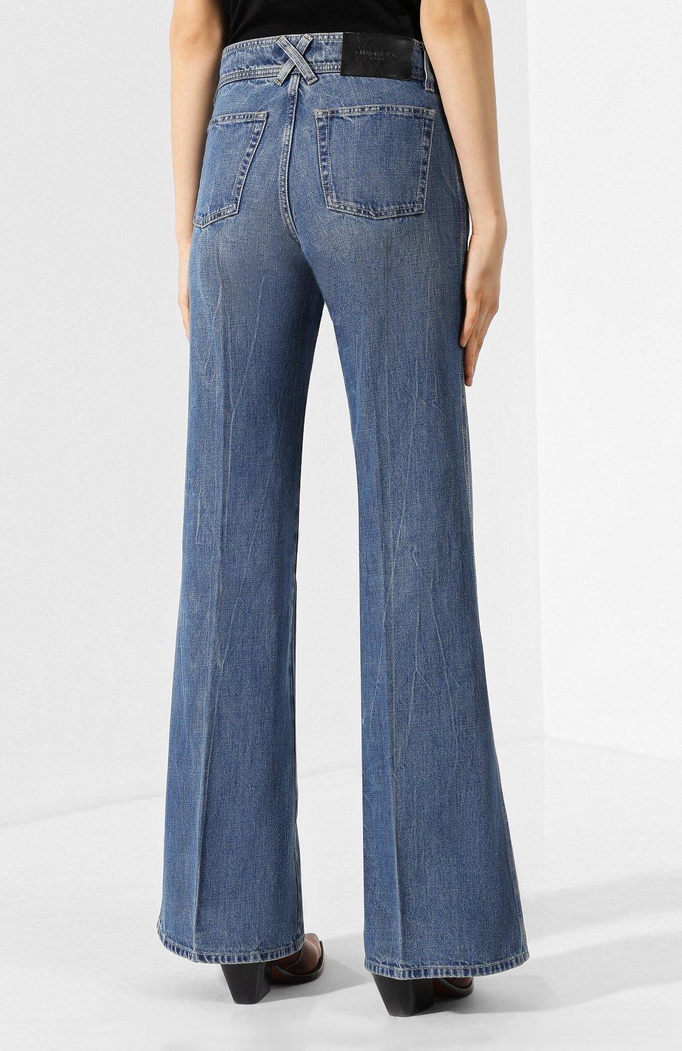 Женские расклешенные джинсы GIVENCHY синего цвета, арт. BW50EK50CB | Фото 4