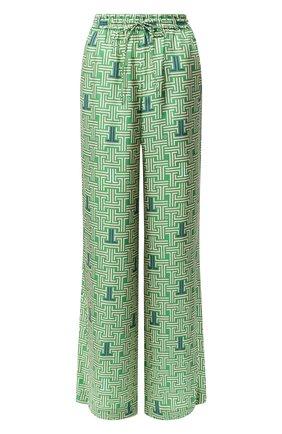 Женские шелковые брюки LANVIN зеленого цвета, арт. RW-TR505I-4231-H19 | Фото 1