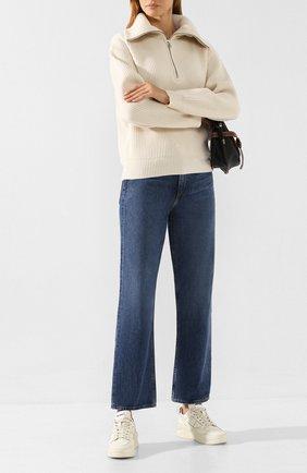Женские джинсы RAG&BONE синего цвета, арт. WDD19F2665K3BW   Фото 2