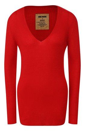 Женская кашемировый пуловер UMA WANG бордового цвета, арт. A9 W UK7134 | Фото 1