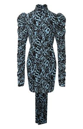 Женское платье с принтом SOLACE голубого цвета, арт. 0S24046A | Фото 1