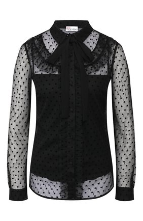 Женская блузка REDVALENTINO черного цвета, арт. SR0AB00Q/4KN | Фото 1