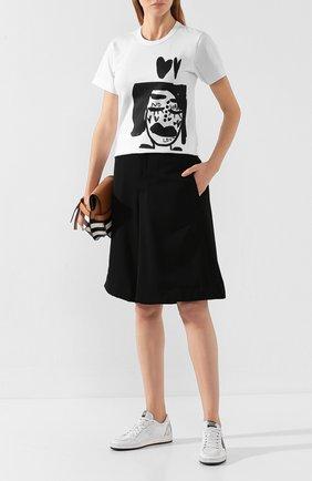 Женские шерстяные шорты COMME DES GARCONS черного цвета, арт. GD-P022-051 | Фото 2