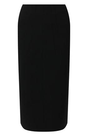 Женская юбка из смеси вискозы и шерсти N21 черного цвета, арт. 19I N2S0/C032/3051 | Фото 1