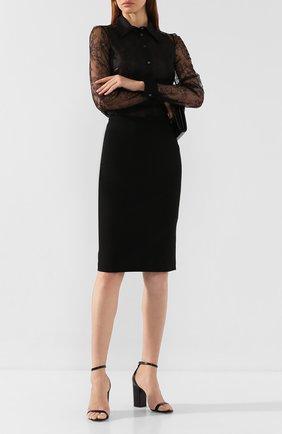 Женская юбка из смеси вискозы и шерсти N21 черного цвета, арт. 19I N2S0/C032/3051 | Фото 2