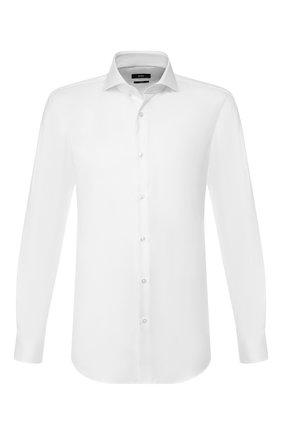 Мужская хлопковая сорочка BOSS белого цвета, арт. 50418528 | Фото 1