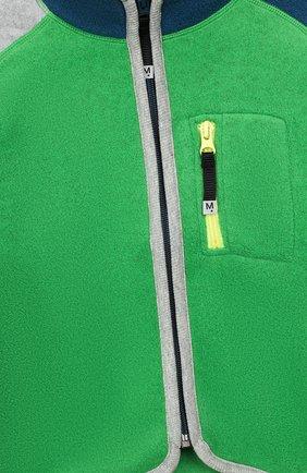 Детский кардиган MOLO зеленого цвета, арт. 5W19L201   Фото 3 (Рукава: Длинные; Материал внешний: Синтетический материал; Мальчики Кросс-КТ: Толстовка-спорт; Ростовка одежда: 2 года   92 см, 3 года   98 см, 4 года   104 см, 5 лет   110 см, 6 лет   116 см, 7 лет   122 см, 8 лет   128 см, 10 - 11 лет   140 - 146см, 13 - 15 лет   158 см, 16 лет   164 см)