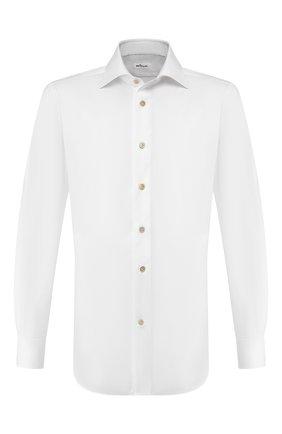 Мужская хлопковая сорочка KITON белого цвета, арт. UCIH00034 | Фото 1