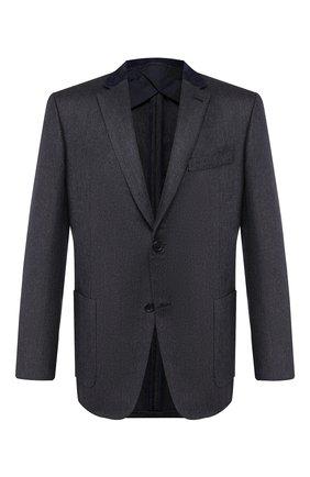 Мужской пиджак из смеси шелка и кашемира BRIONI темно-синего цвета, арт. RGK10M/0840S/TALETE | Фото 1