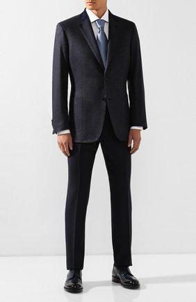 Мужской пиджак из смеси шелка и кашемира BRIONI темно-синего цвета, арт. RGK10M/0840S/TALETE | Фото 2