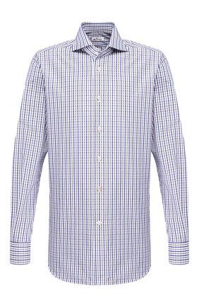 Мужская хлопковая сорочка KITON синего цвета, арт. UCCH0709919 | Фото 1