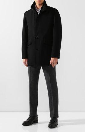Мужской кожаные дерби MORESCHI черного цвета, арт. 43251/SD | Фото 2