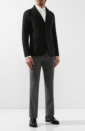 Мужской шерстяные брюки BERWICH серого цвета, арт. SC/1/CE1721 | Фото 2