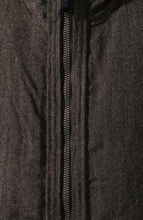 Пуховик из смеси льна и шерсти | Фото №5