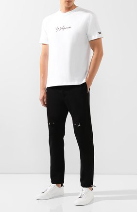 Мужская хлопковая футболка YOHJI YAMAMOTO белого цвета, арт. HC-T96-076 | Фото 2