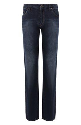 Мужские джинсы PAUL&SHARK темно-синего цвета, арт. I19P4125R | Фото 1