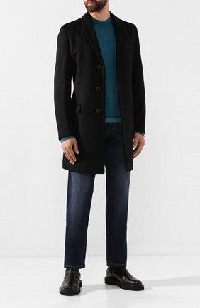 Мужские джинсы PAUL&SHARK темно-синего цвета, арт. I19P4125R | Фото 2