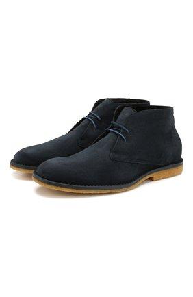 Мужские замшевые ботинки BRIONI темно-синего цвета, арт. QQC20L/P8712 | Фото 1