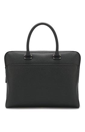 Мужская кожаная сумка для ноутбука BRIONI темно-синего цвета, арт. 0IUB0L/04702 | Фото 1