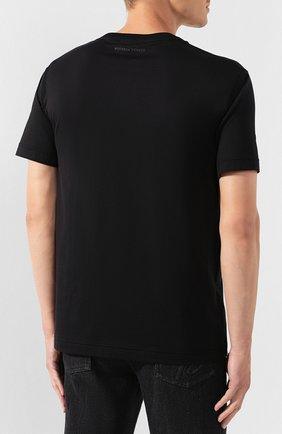 Мужская хлопковая футболка BOTTEGA VENETA черного цвета, арт. 595619/VKAB0 | Фото 4