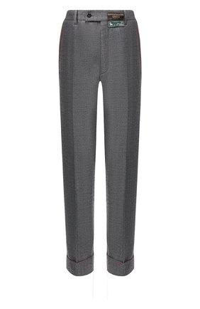 Мужской шерстяные брюки GUCCI серого цвета, арт. 595494/ZACFM | Фото 1