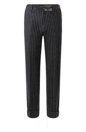 Мужской шерстяные брюки GUCCI темно-серого цвета, арт. 595494/ZACET | Фото 1