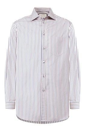 Мужская хлопковая рубашка GUCCI темно-бежевого цвета, арт. 587297/Z361H | Фото 1