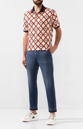 Мужские джинсы GUCCI синего цвета, арт. 515969/XDAQ0 | Фото 2