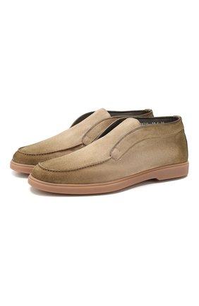 Мужские замшевые ботинки SANTONI бежевого цвета, арт. MGYA16715TISAPMSC55 | Фото 1