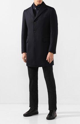 Мужской шерстяное пальто CORNELIANI темно-синего цвета, арт. 841584-9813028/00   Фото 2