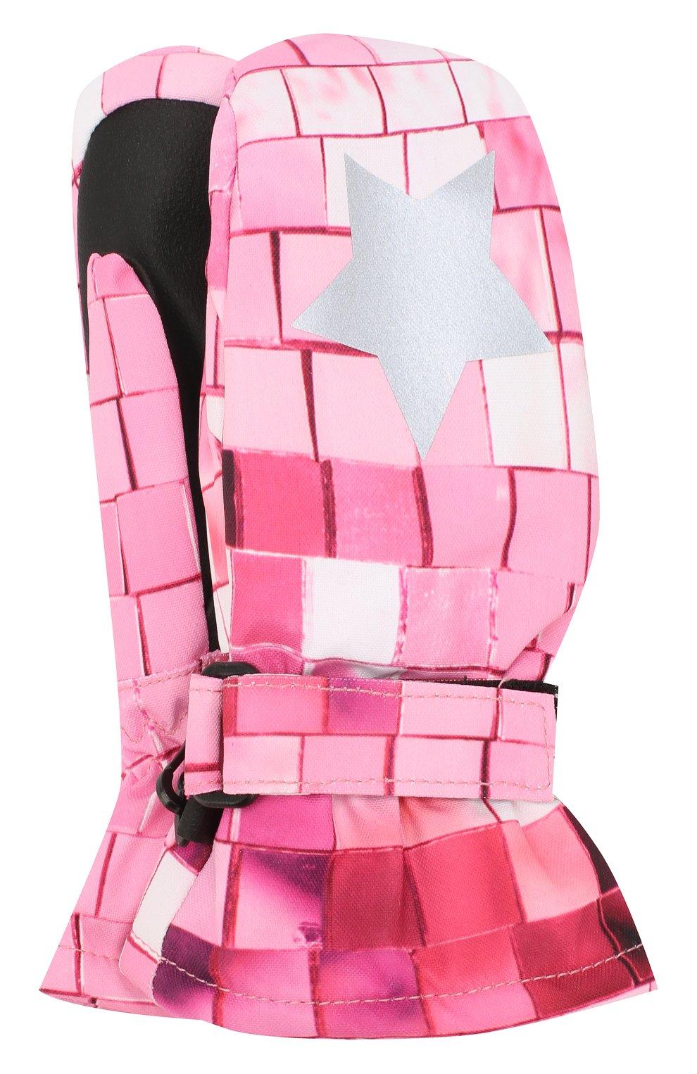 Детские варежки MOLO розового цвета, арт. 7W19S103 | Фото 1