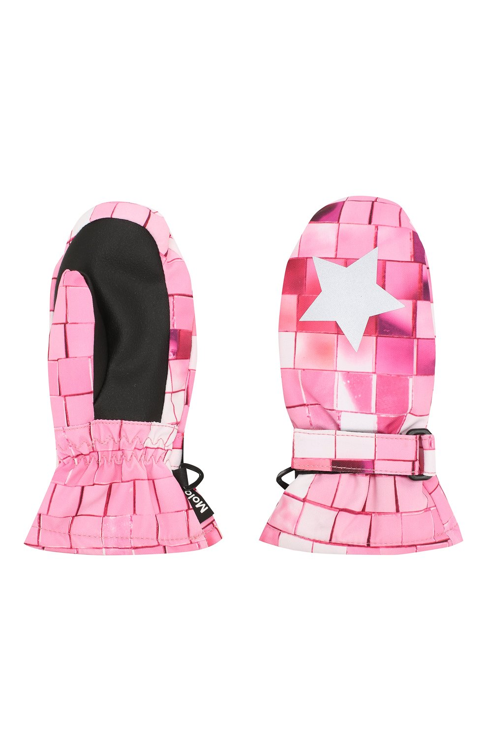 Детские варежки MOLO розового цвета, арт. 7W19S103 | Фото 2