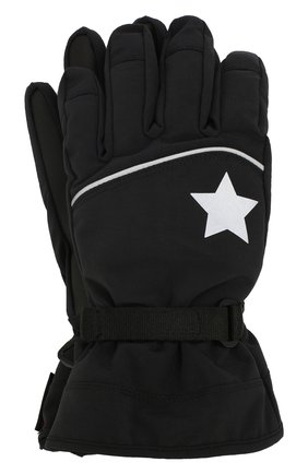 Детские перчатки MOLO черного цвета, арт. 7W19S207 | Фото 1