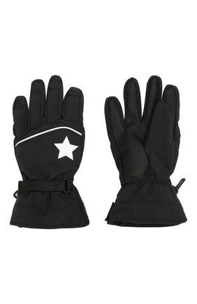 Детские перчатки MOLO черного цвета, арт. 7W19S207 | Фото 2