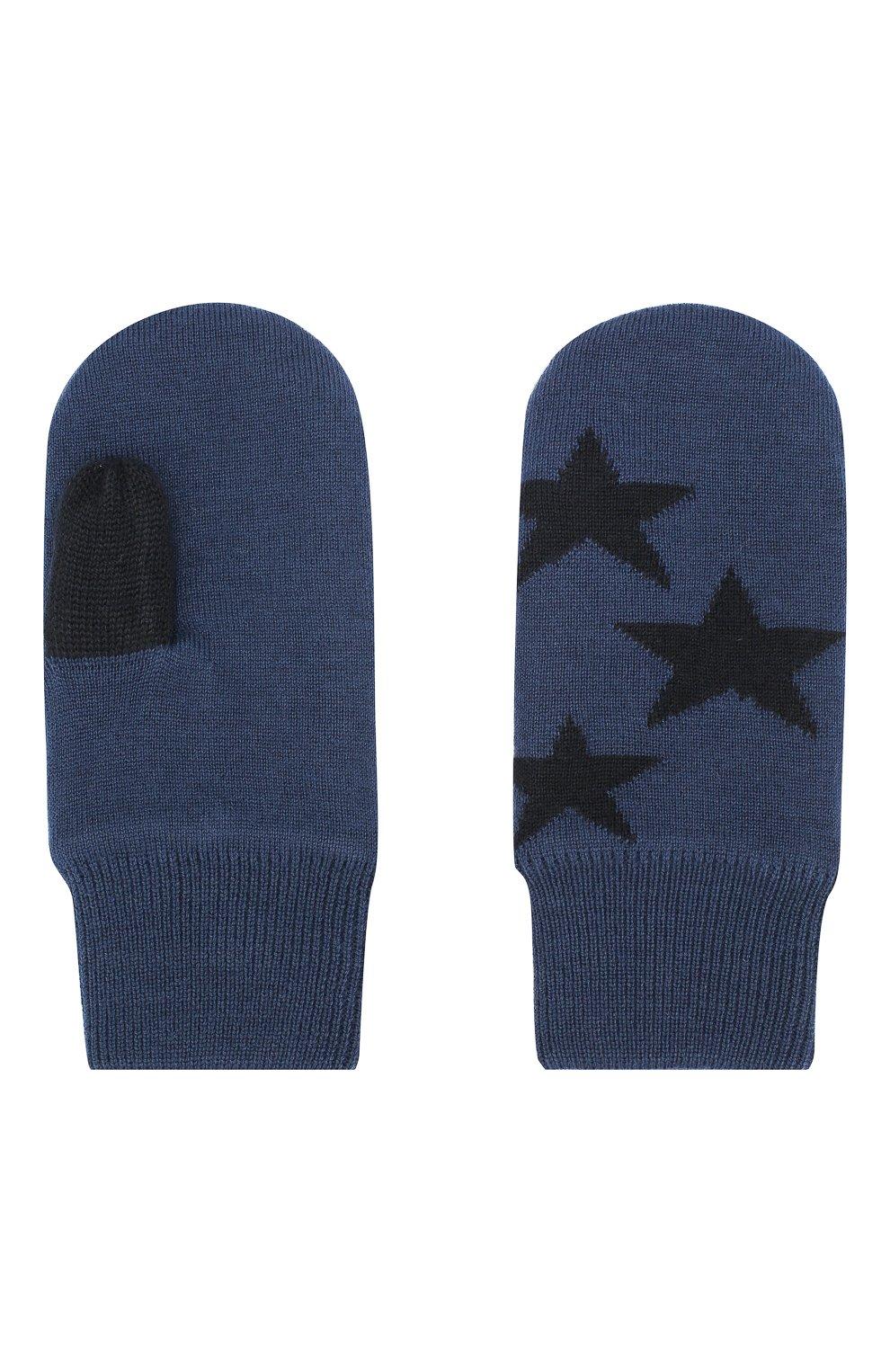Детские варежки MOLO синего цвета, арт. 7W19S102 | Фото 2