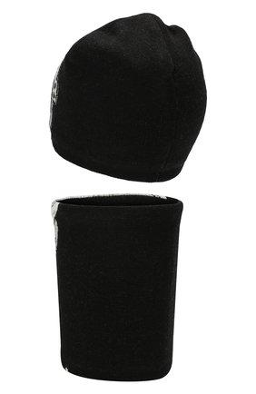 Детский комплект из шапки и шарфа MOLO черного цвета, арт. 7W19S309 | Фото 2