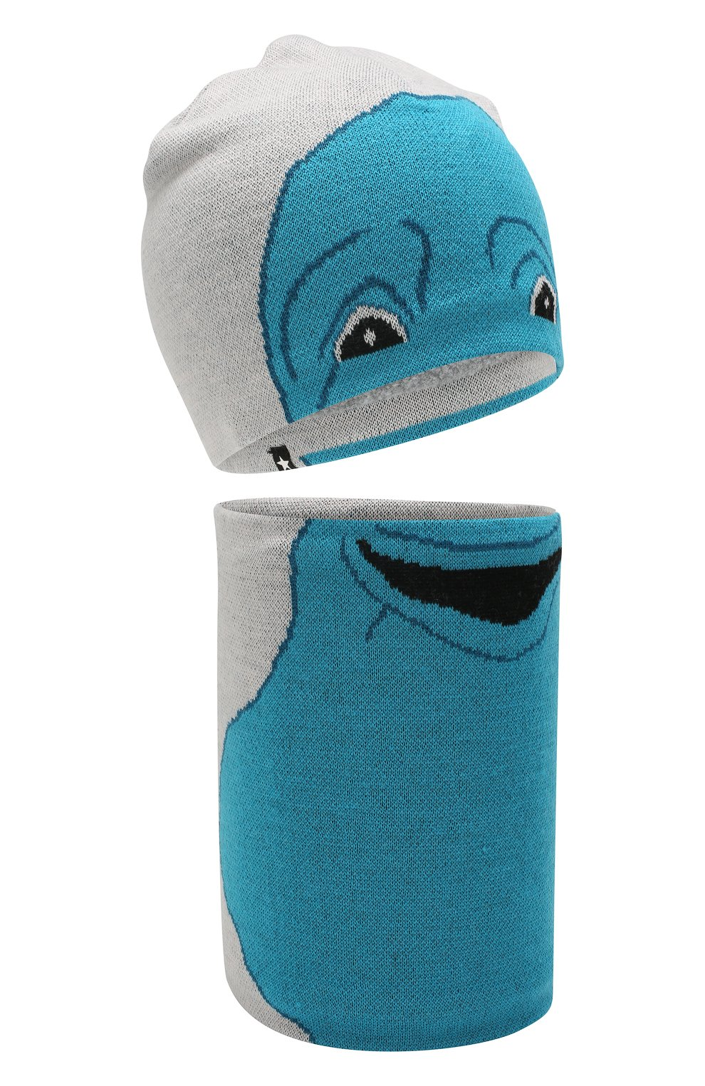Детский комплект из шапки и шарфа MOLO серого цвета, арт. 7W19S309   Фото 1