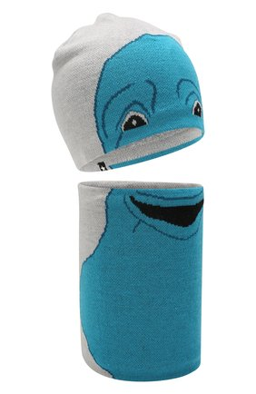 Детский комплект из шапки и шарфа MOLO серого цвета, арт. 7W19S309 | Фото 1