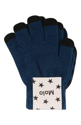Детские перчатки MOLO синего цвета, арт. 7W19S204   Фото 1 (Материал: Текстиль)