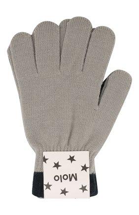 Детские перчатки MOLO серого цвета, арт. 7W19S205 | Фото 1