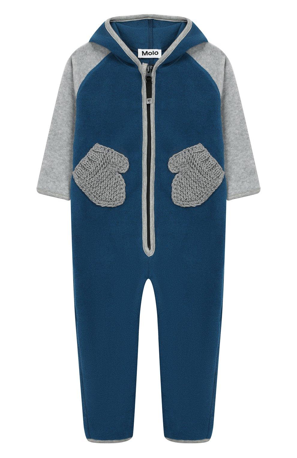 Детский комбинезон MOLO синего цвета, арт. 5W19L301 | Фото 1