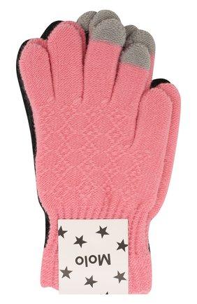 Детские перчатки MOLO розового цвета, арт. 7W19S202 | Фото 1