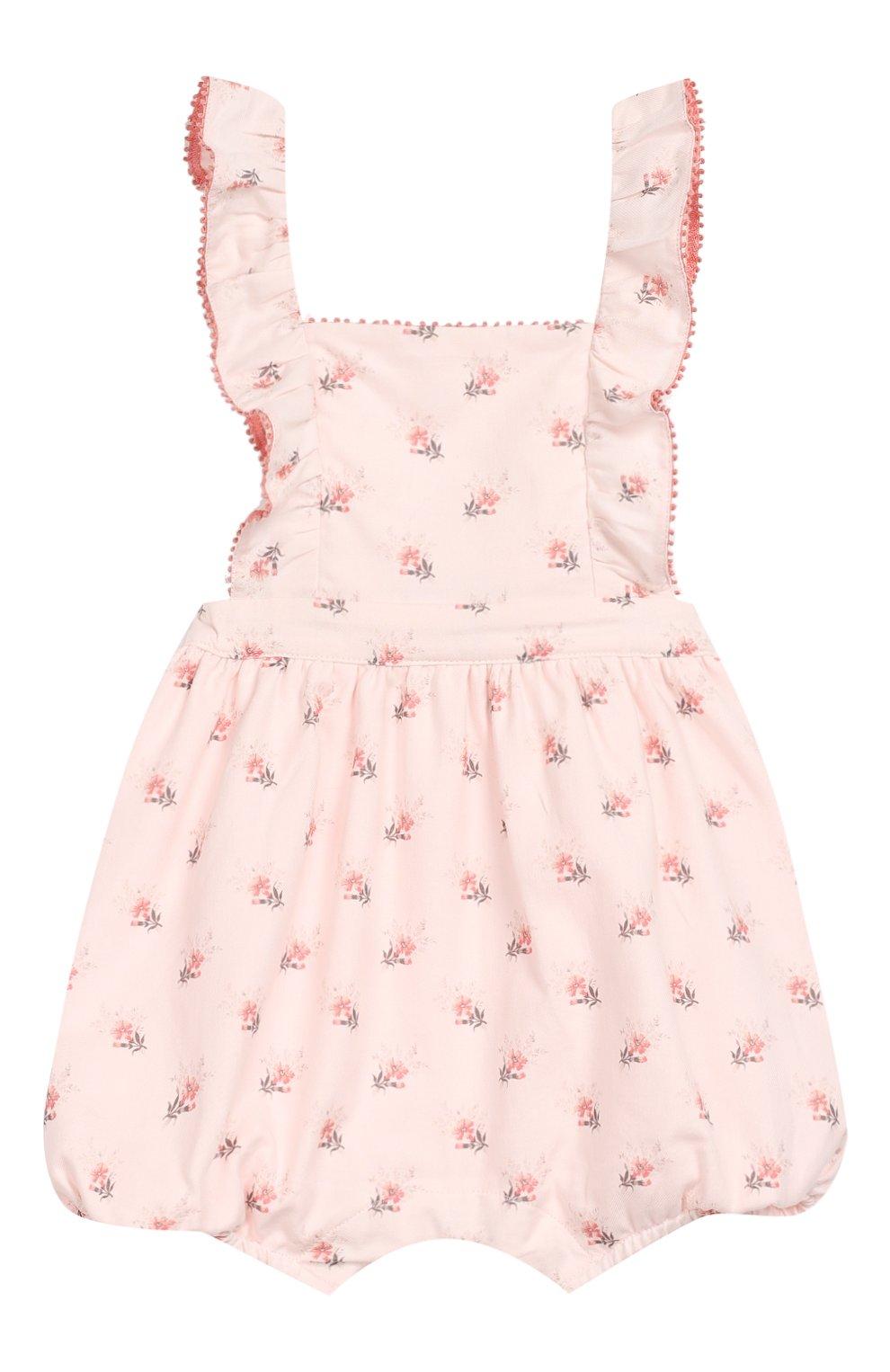 Детский хлопковый комбинезон TARTINE ET CHOCOLAT светло-розового цвета, арт. TP33001/18M-3A | Фото 1